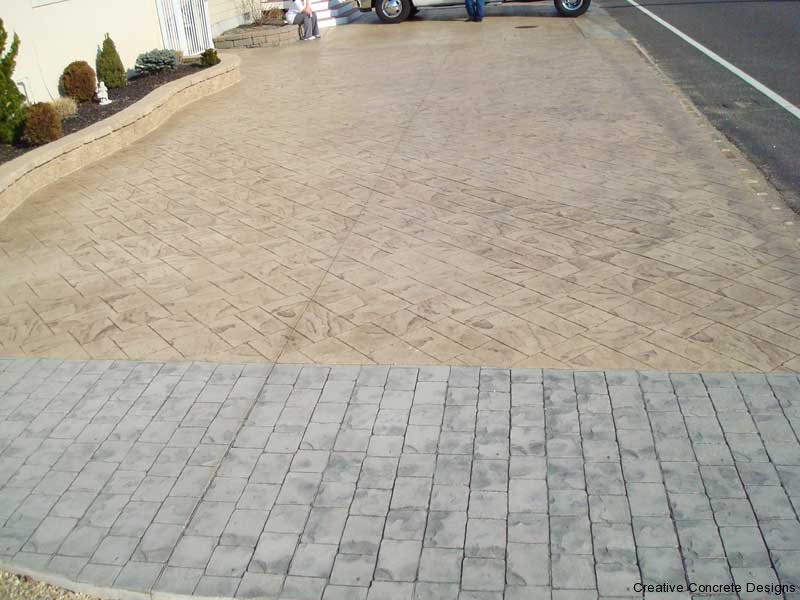 Stamped Concrete Driveway in Ocean County NJ