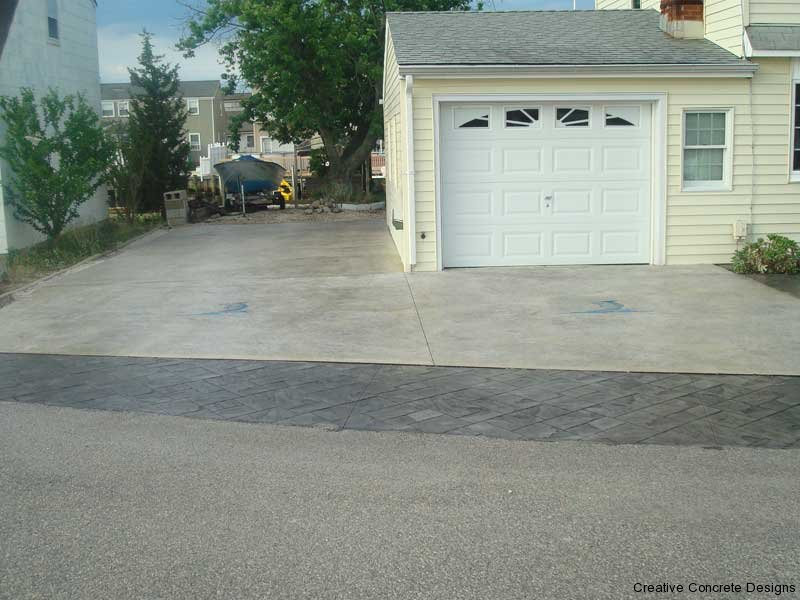 Expertly Installed Concrete Driveway at Jersey Shore