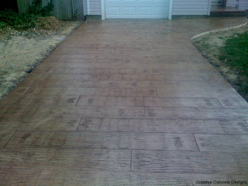 Stamped Concrete Driveway in Burlington County NJ