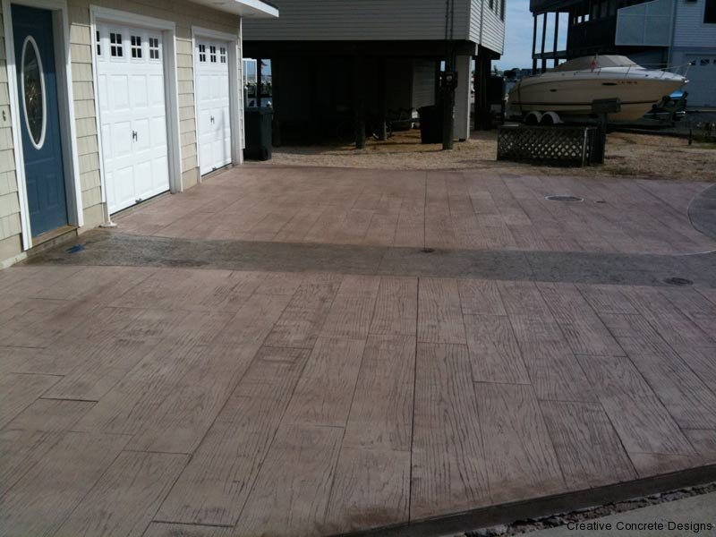 Stamped Concrete Driveway at Jersey Shore