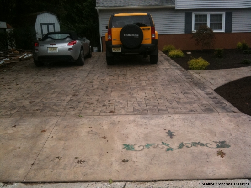Stamped Concrete Driveway in South Jersey