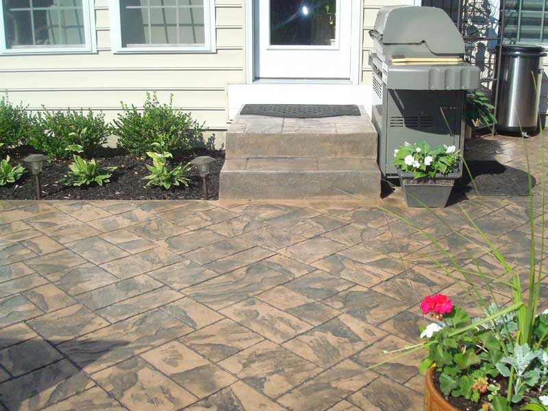 Stamped Concrete Patio in Camden County NJ
