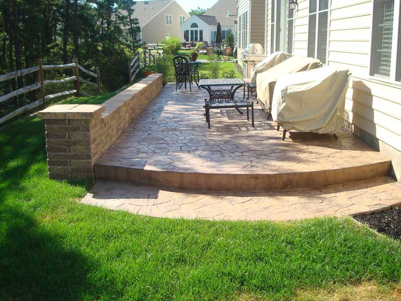 Affordable Stamped Concrete Patio in South Jersey