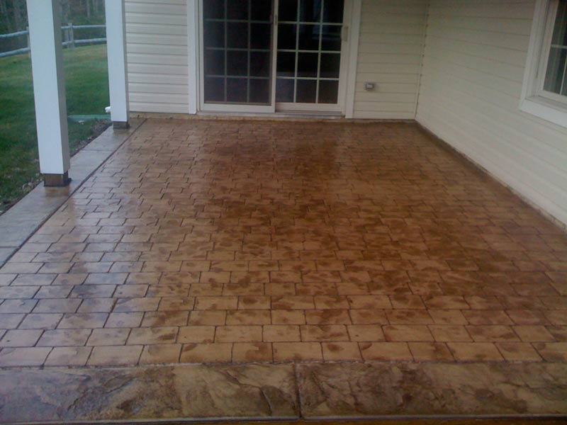 Stamped Concrete Patio at Jersey Shore