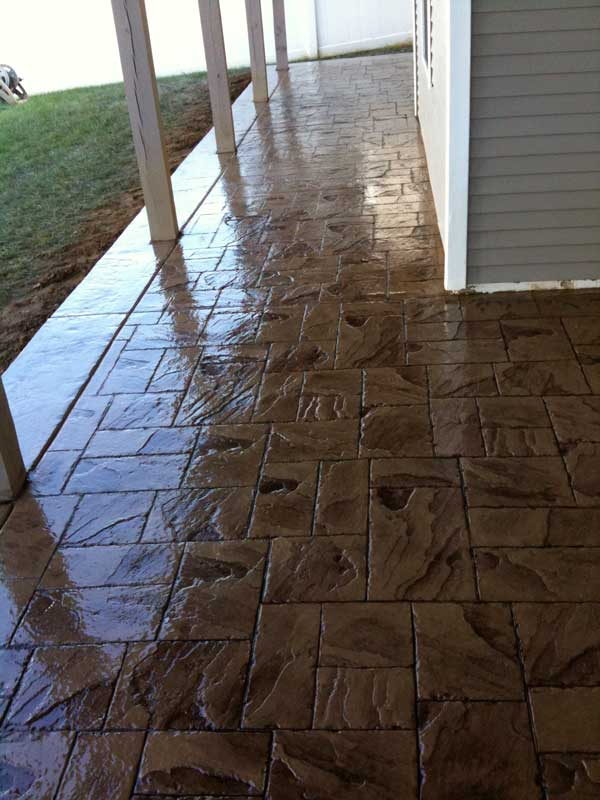 Stamped Concrete Patio in South Jersey